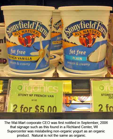Mislabled yogurt in Sept. 2006