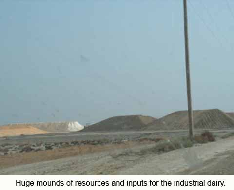 Mounds of resources and inputs