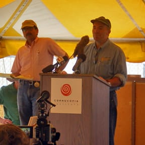 "Wisconsin Organic Dairy Farmer Bruce Drinkman:  ""We had to cash in my wife's IRA to get money for seeds this year."""