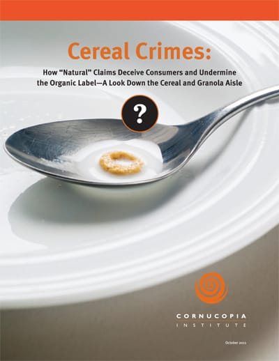 Cornucopia Cereal Crimes Report Cover