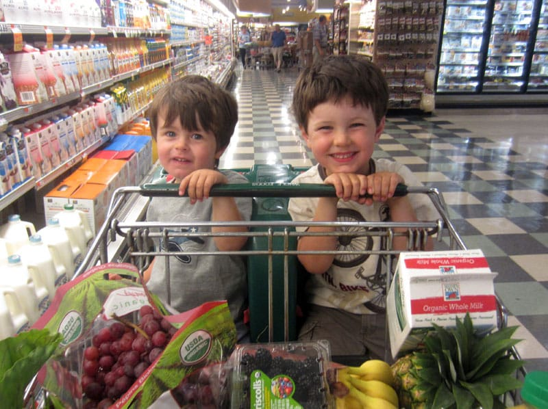 Sons Kai and Liam shopping with Charlotte 2