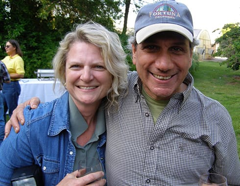 A happy Jerry with Cindy Daley of Chico State's Organic Dairy