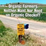 No Organic Check-Off!