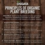 Principles of Organic Plant Breeding