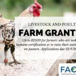 FACT's Grants for Livestock & Poultry Farmers – Apply today!