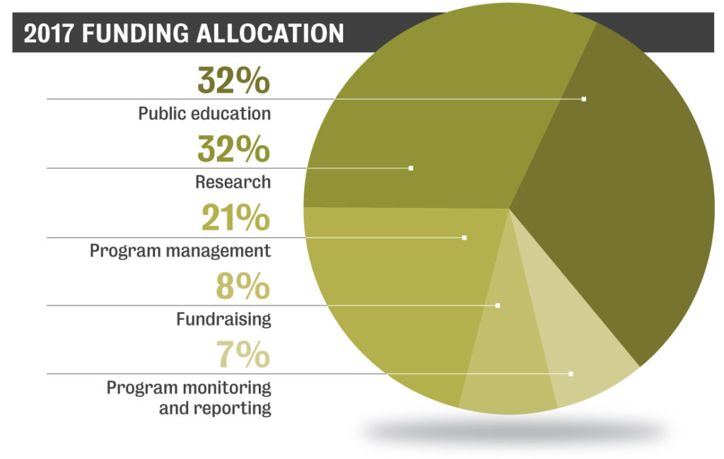 2017 Funding Allocation Pie Chart