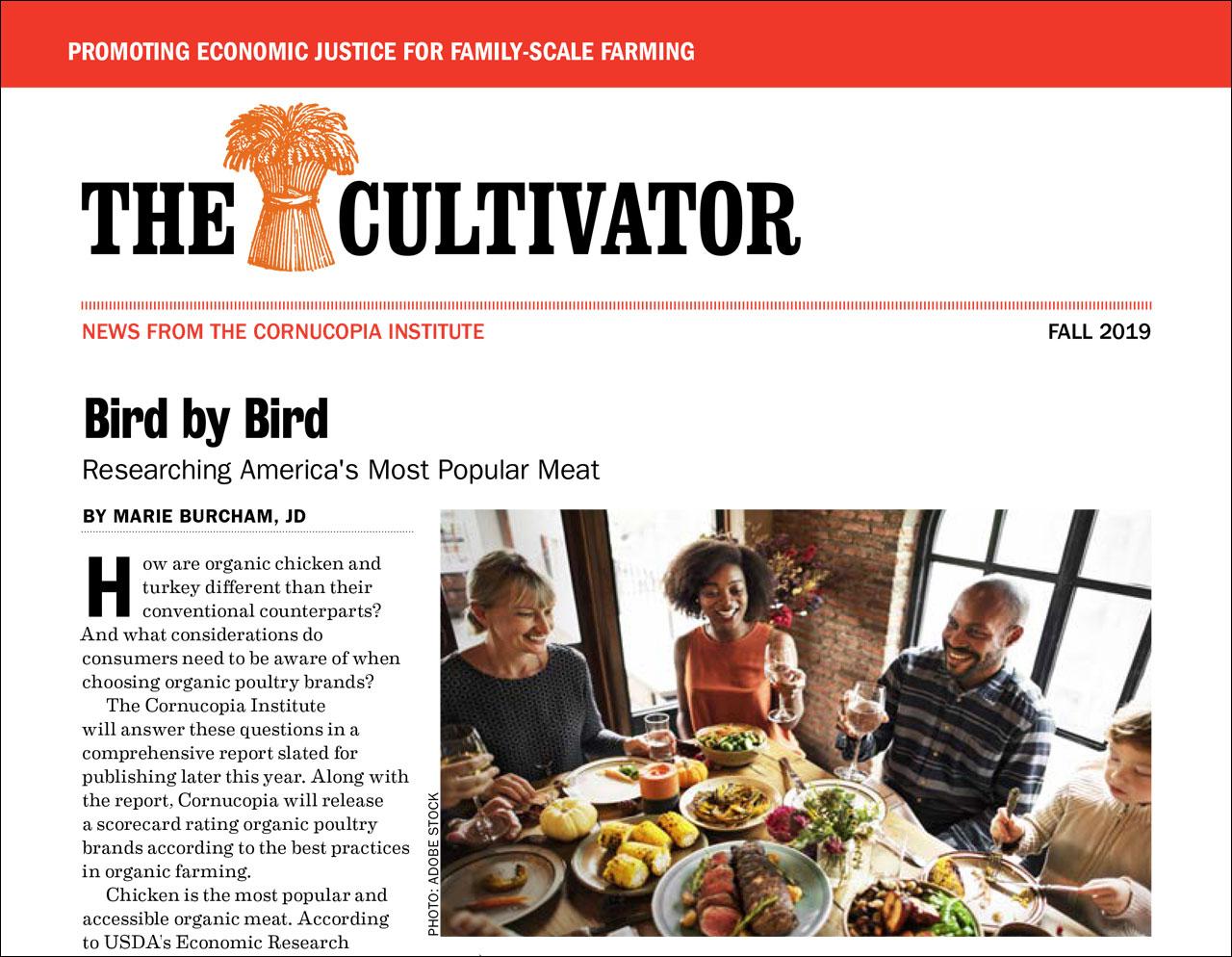 Fall 2019 Cultivator