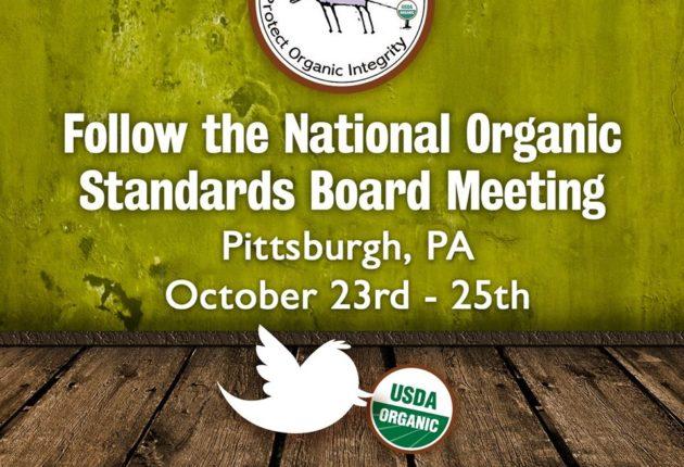 Follow the NOSB Meeting, Fall 2019