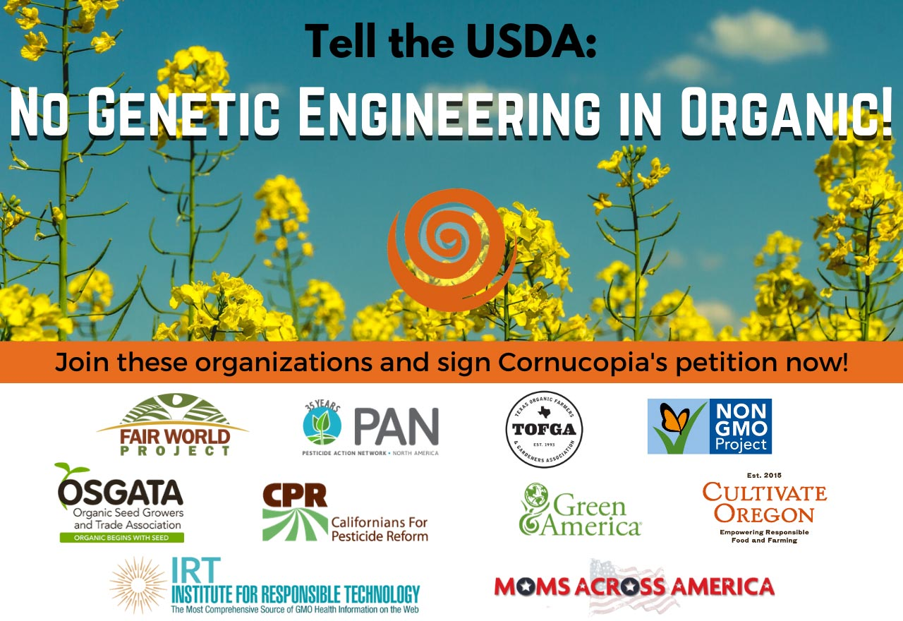 No GMOs in Organic! Sign on.