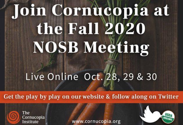 NOSB Fall 2020 Meeting
